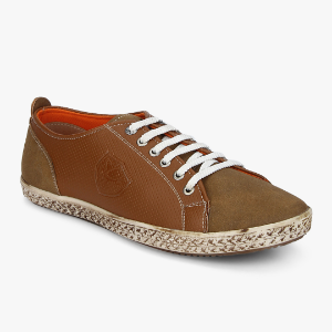 Men Brown Textured Sneakers