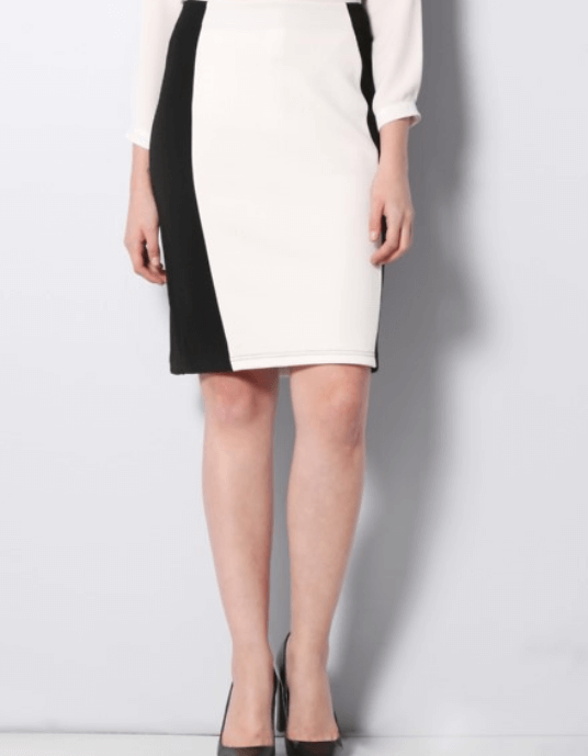Duotone Pencil Skirt