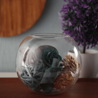 Transparent Glass Vase