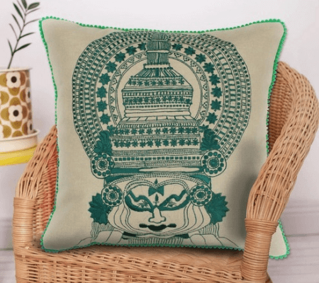 Kathakali Embroidery Cushion Cover Bombay Mill