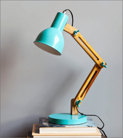 Blue Iron Auro Study Table Lamp