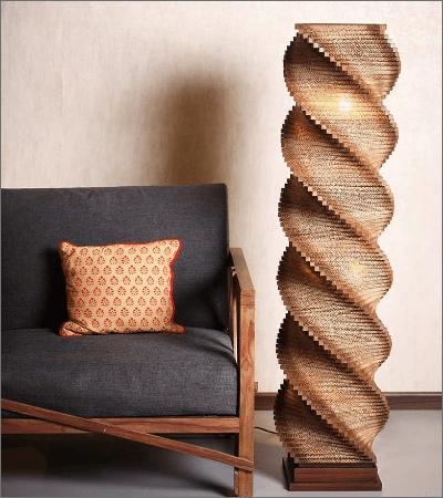 Paper Floor Lamp by Sylvn Studio