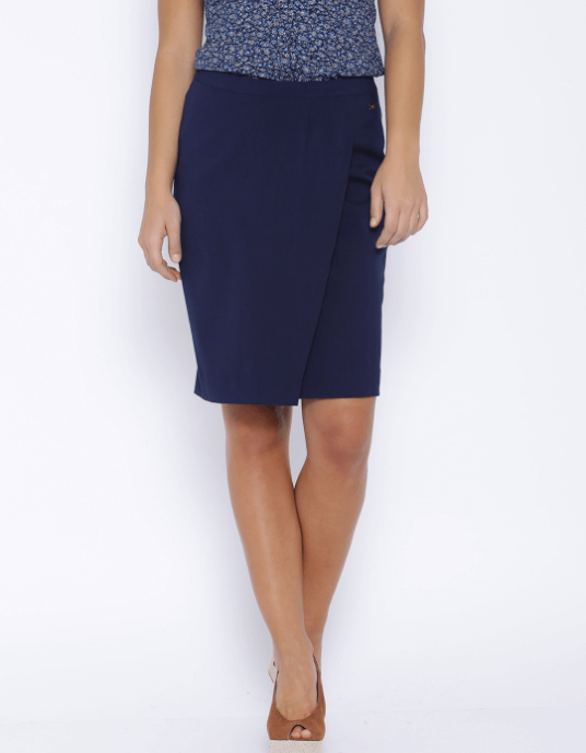 Park Avenue Woman Navy Pencil Skirt