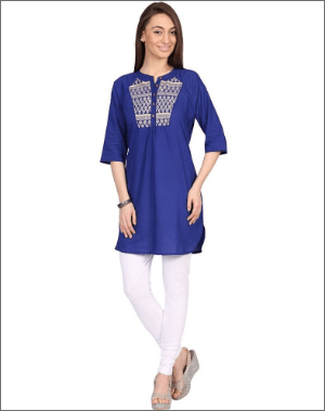 Blue Color Short Kurtis
