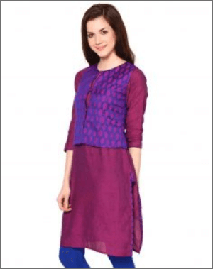 Purple casual kurti