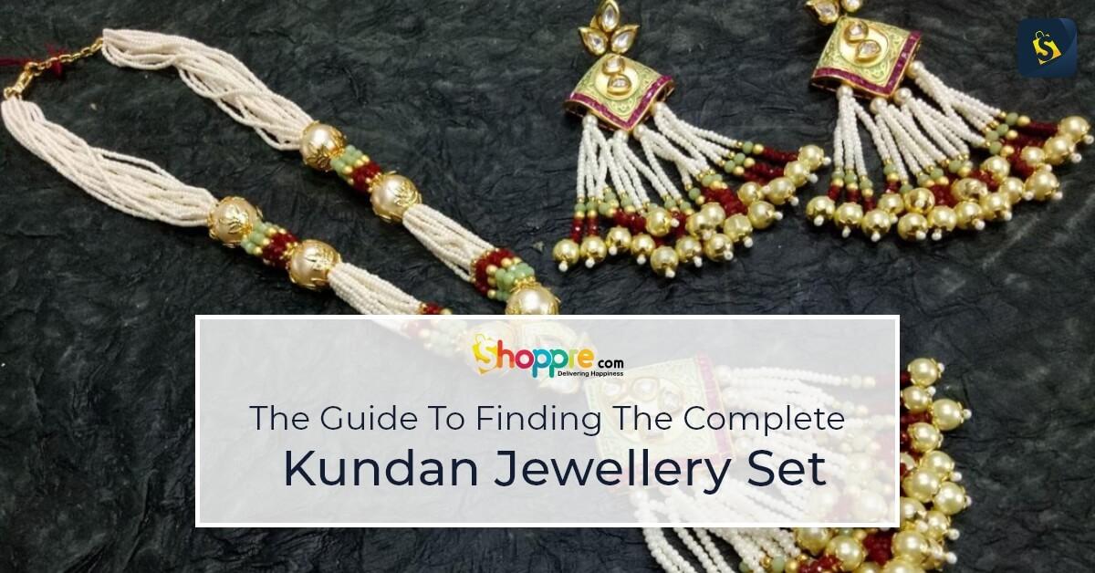 kundan jewellery set online shopping