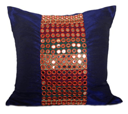 Dark Blue Decorative Pillow Covers