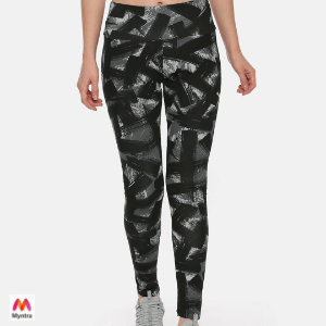 Puma Black Printed FUSION AOP Tights