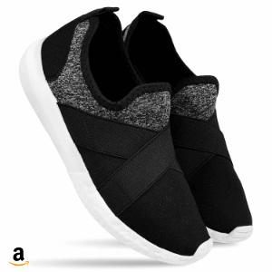 Buy DRUNKEN Women's Sports Mesh Black Running Shoes