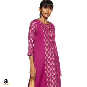 Amazon Brand- Myx Women's Cotton Straight Kurta