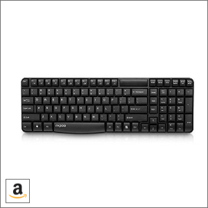 Buy Black Rapoo E1050 2.4G Anti-Splash Wireless Keyboard