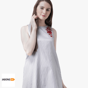jabong-pinwheel-grey-striped-a-line-dress
