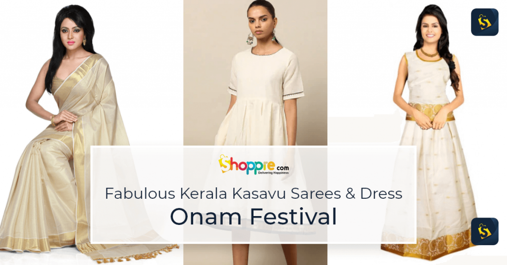 Buy Kerala Kasavu Sarees online in India - ShoppRe