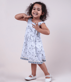 Palm Printed Skater Dress Kids