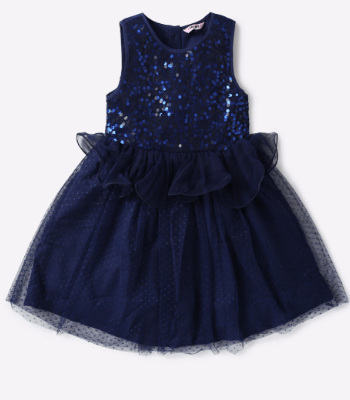 Buy Navy Blue Dresses & Frocks for Girls