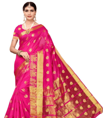 Kanjivaram Poly Chanderi Saree