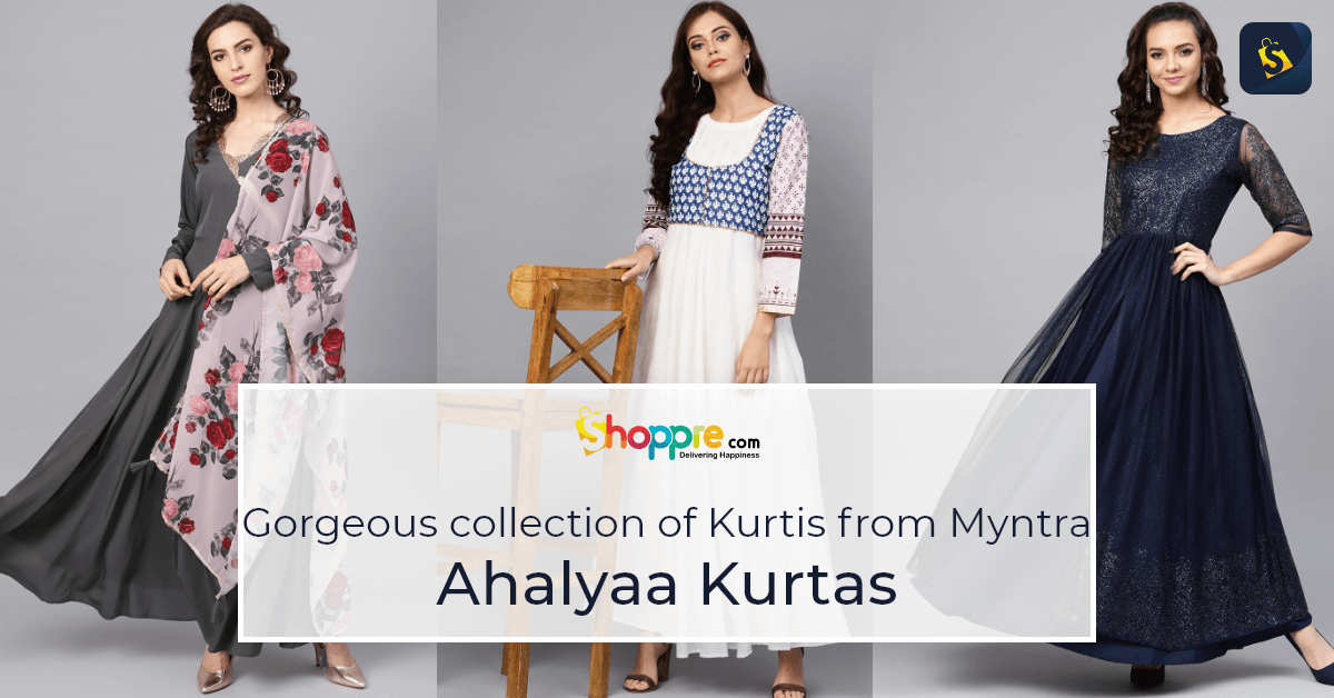 Look through this gorgeous collection of Ahalyaa Kurtis from Myntra