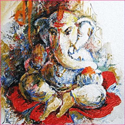 Lord Ganesh ART Painting