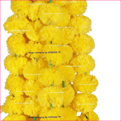 Marigold Fluffy Flowers Garlands For Decoration
