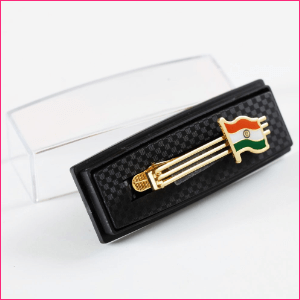 Indian Flag Gold-Plated Brass Tiepin