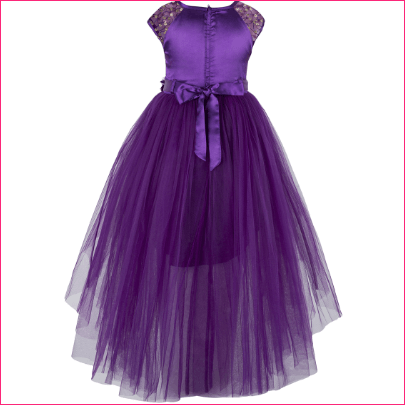 Toy Balloon kids Purple Solid Fit and Flare Dress