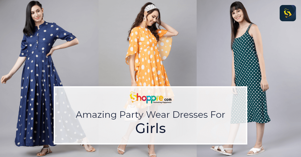 Buy Modern and Fashionable Polka dot dresses from Myntra and ship worldwide
