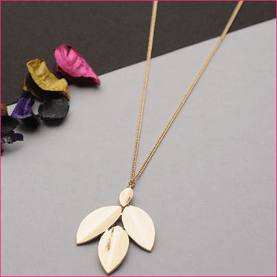 SERENITY Gold Tone Handcrafted Pendant with Chain