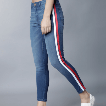 Women Blue Super Skinny Fit Mid-Rise Clean Look Stretchable Jeans