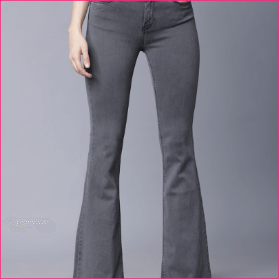 Women Grey Bootcut Mid-Rise Clean Look Stretchable Jeans