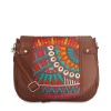 Buy Brown Printed Sling Bag