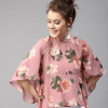 Women Pink Floral Print A-Line Top