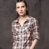 Slim Fit Checked Casual Shirt