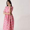 Women Pink Printed Maxi Dress