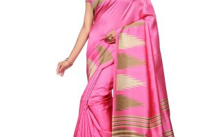 Kanchnar Women's Poly-Art Silk Printed Saree
